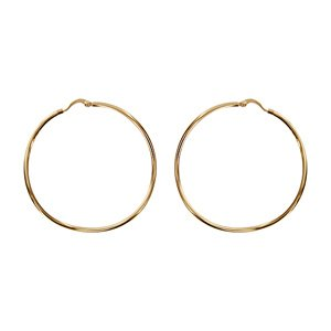 1001 Bijoux Gold Plated Hoop Wave 55 mm