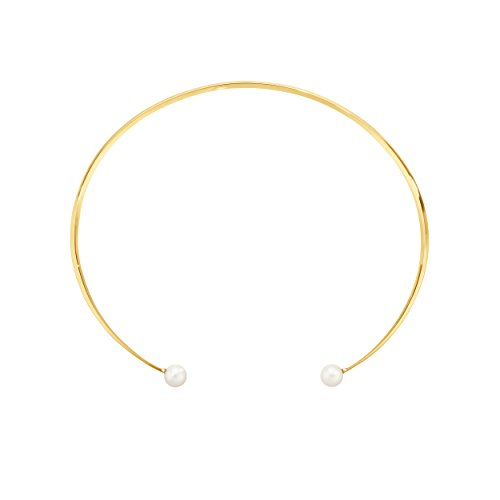Georg Jensen 18ct Yellow Gold with Pearls and Brilliant Cut Diamonds Neva Necklace of Length 39cm