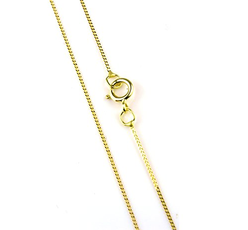 Arranview Jewellery 46cm/18inch Trace Chain Curb Style – 9ct Gold