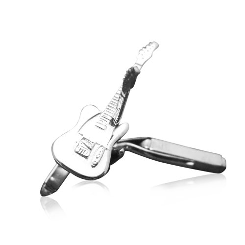 Men's Genuine Sterling Silver Fender Telecaster Electric Guitar Cufflinks