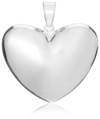 Tuscany Silver Sterling Silver Large Puffed Heart Pendant