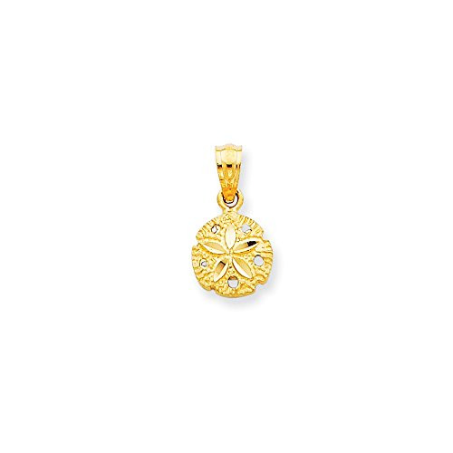 14k Yellow Gold Sand Dollar Sea Star Starfish Pendant Charm Necklace Shore Shell Fine Jewellery For Women Gifts For Her