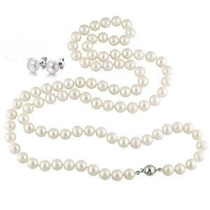 StunningBoutique FIVE IN ONE White 50 inches 125cm 8-9mm Freshwater Pearl Long Rope Necklace with a nice Clasp presented…