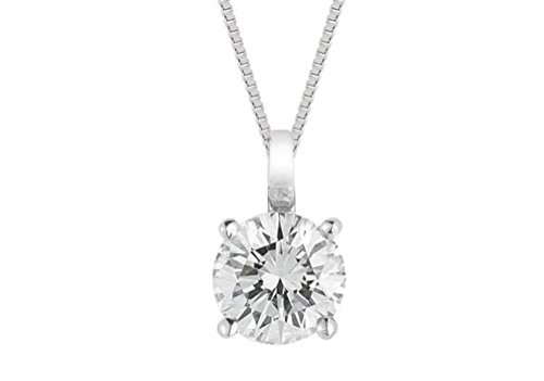 diamond solitaire pendant white gold SI quality