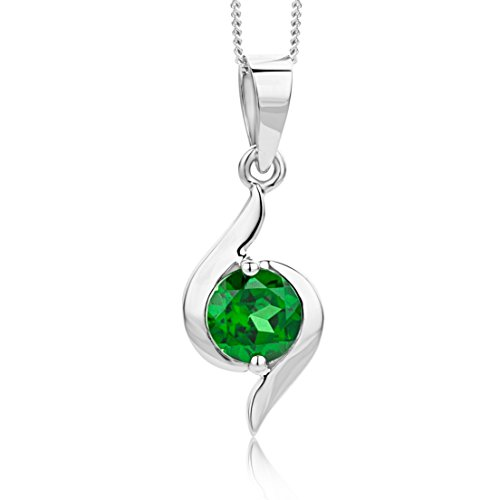 Miore necklace in 9 kt 375 white gold with gem pendant