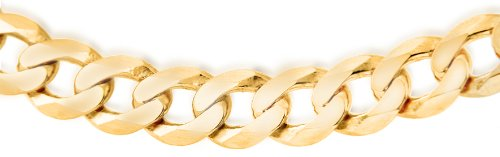 Carissima Gold 9ct Yellow Gold Men's Flat Curb Chain of 51cm/20″