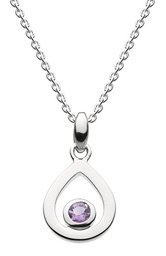Dew Sterling Silver Open Teardrop Necklace