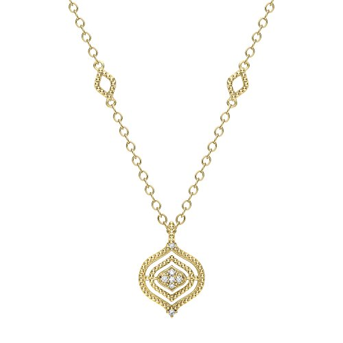 Judith Ripka Women's Stella 18 ct Yellow Gold Diamond Small Pendant of Length 43 cm