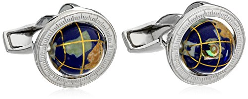 Tateossian Men's Stones of The World Multicolor Globe with Cage Cufflinks