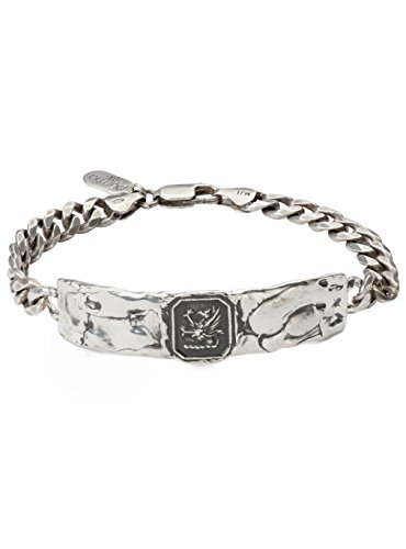 Pyrrha Men's 925 Sterling Silver Success Wide ID Bracelet