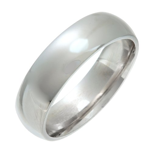 Theia Unisex Sterling Silver Super Heavy Court Shape Wedding Ring
