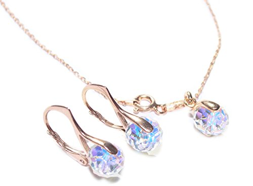 GIFT BOXED! Ah! Jewellery Alluring Aurore Boreale Briolette Crystals From Swarovski 2PCS Earrings & Pendant Necklace Set…