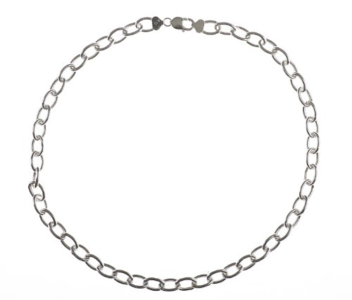 Adara Silver 24 Inches Large Oval Belcher Chain