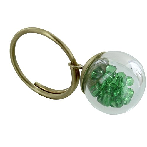 Les Poulettes Jewels – Brass Ring Glass Paste Bubble and Pearls – Classics