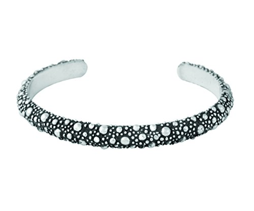 King Baby Men's 925 Sterling Silver Stingray Texture Cuff