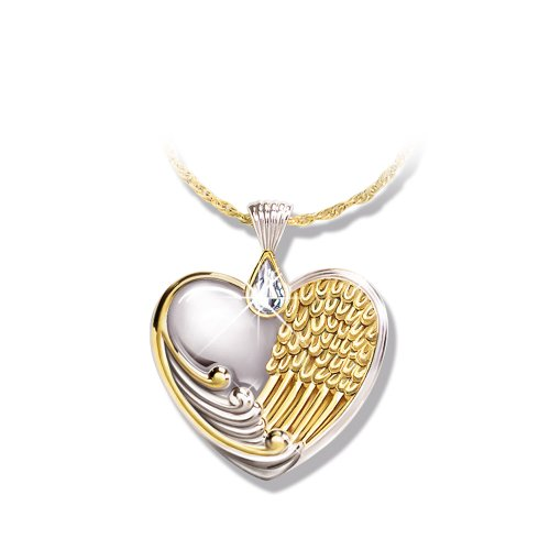 The Bradford Exchange 'Always in My Heart' – Pendant – Heart-Shaped – Sterling Silver with 24-Carat Gold Plating