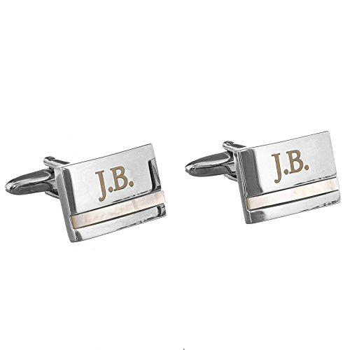 Mother of Pearl Personalised Cufflinks