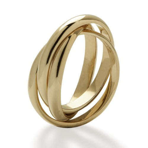 Jewellery Triple Band 18ct 2mm Yellow Gold Heavy 4g Approx. Russian Style Wedding Ring – Highly Polished