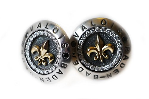 Argentvm Avrvm – Valois Diamonds Way – Men's Cufflinks – 925 Sterling Silver and 18K Yellow Gold