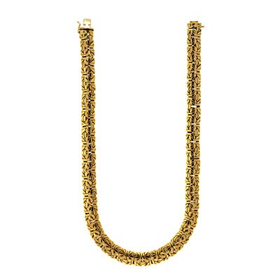 18ct Yellow Gold 11.5mm Byzantine Necklace Jewelry Gifts for Women – Length Options: 41 46 51