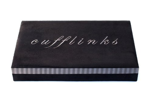 40 Piece Cufflink Box – Graphite Collection