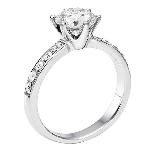 Diamond Engagement Ring in 14K Gold / White – GIA Certified, Round, 1.75 Carat, D Color, VVS2 Clarity