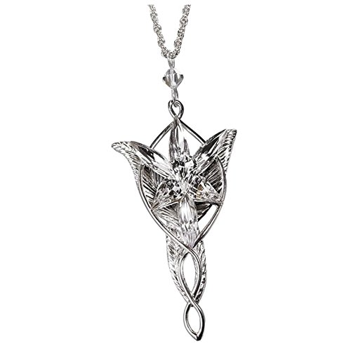 Arwen Evenstar Sterling Silver Pendant. Lord of the Rings Noble Collection.
