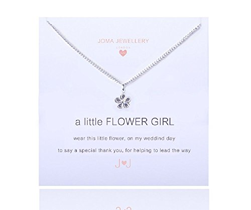 Joma Girls a little flower girl necklace