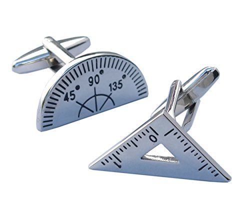 Geometry Cufflinks – Set Square and Protractor Novelty Cufflinks