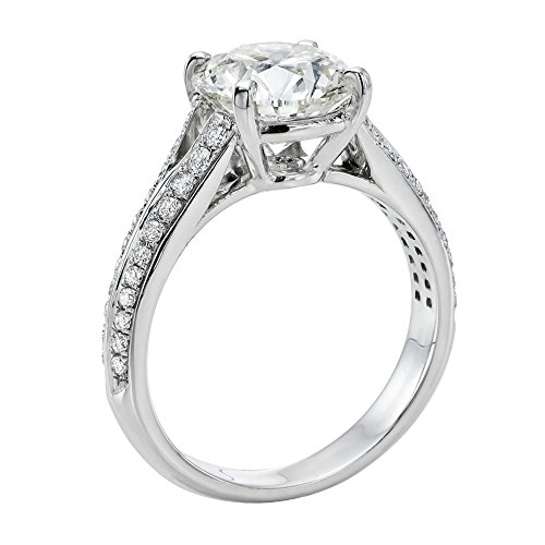 GIA Certified, Round Cut, Solitaire Diamond Ring in 14K Gold / White (2 ct, F Color, SI2 Clarity)