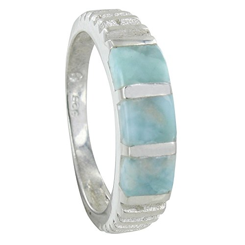 Les Poulettes Jewels – Sterling Silver Ring Three Larimar Square