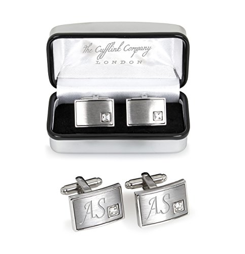 Personalised Crystal Cufflinks Packaged in Luxury Chrome Case – Engraved For You