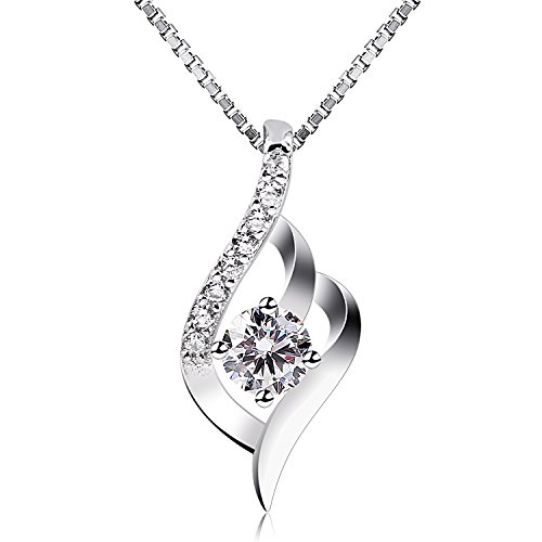 """B.Catcher Sterling Silver Necklaces Birthday Gifts for Women Pendant Necklace, 18"""""""