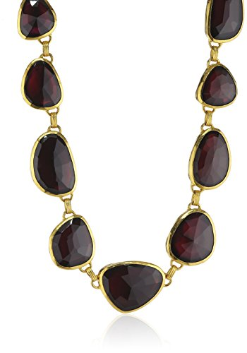 GURHAN Elements High Carat Gold and Garnet Reversible All Around Necklace of 45.72cm