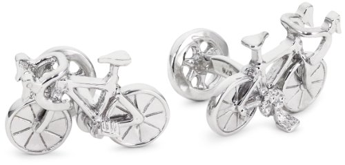"ROTENIER ""Novelty Sterling Silver Racing Bicycle and Wheel Cufflinks"