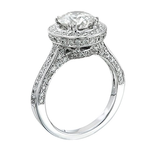 GIA Certified, Round Cut, Solitaire Diamond Ring in 14K Gold / White (2 1/2 ct, G Color, VVS2 Clarity)