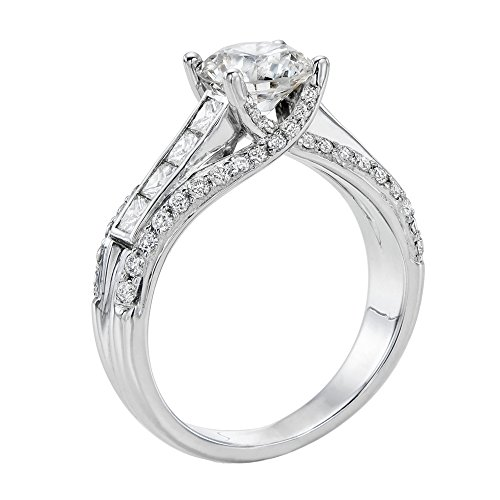 Diamond Engagement Ring in 14K Gold / White – GIA Certified, Round, 2.40 Carat, G Color, VVS2 Clarity