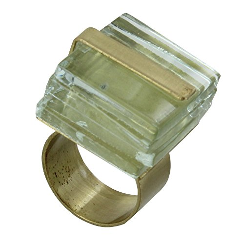 Les Poulettes Jewels – Brass Ring Cube and Laminated Glass – Classics
