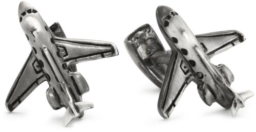 ROTENIER Atelier Sterling Silver Private Jet and Engine Cufflinks