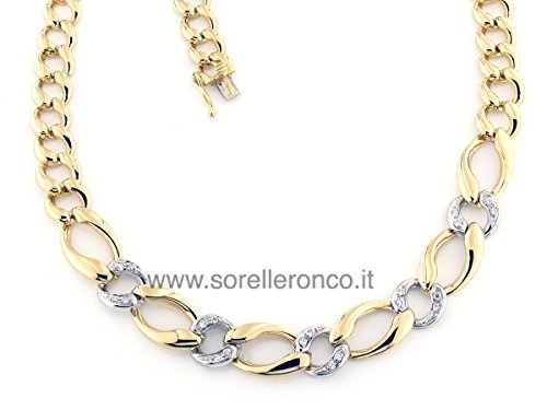 Necklace in 18 Kt Yellow and White Gold with Diamonds