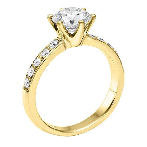 GIA Certified, Round Cut, Solitaire Diamond Ring in 14K Gold / Yellow (1 1/2 ct, D Color, VVS2 Clarity)