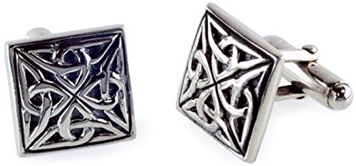 STERLING SILVER CELTIC KNOTWORK DESIGN CUFFLINKS