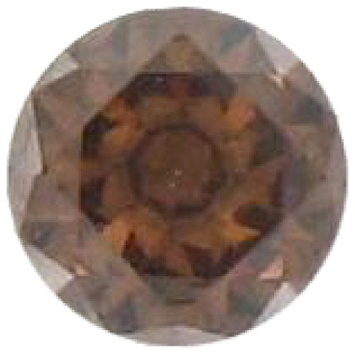 Quiges – Elements 8mm Round Zirconia Ring Stone/Ball Brown for Quiges – Interchangeable Rings