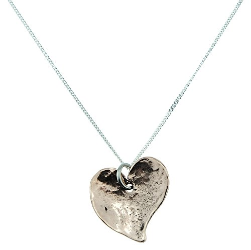 7 Year Anniversary Off-shaped Hammered Copper Heart Pendant – 7 Year Anniversary Gift Idea