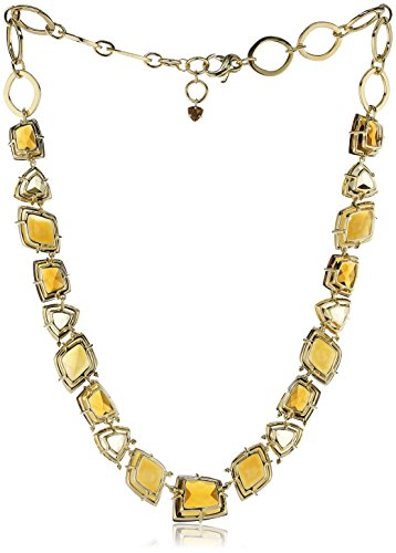 VIANNA BRASIL 18 ct Yellow Gold Diamond0.228 ct, Citrine, Whisky Citrine and Hazelnut Agate Necklace of 44-46 cm