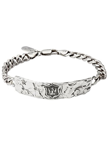 Pyrrha Men's 925 Sterling Silver Bravery and Protection Wide ID Bracelet