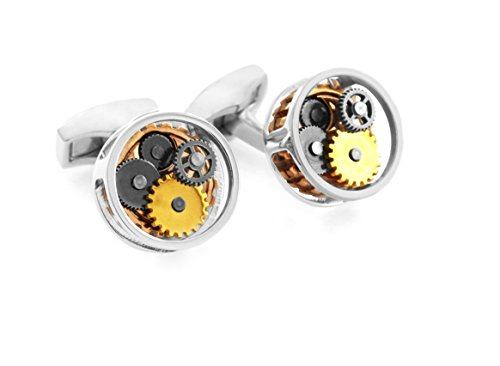 Tateossian Men's Mechanical Gear Perspex Cufflinks