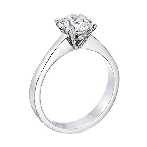 Diamond Engagement Ring in 14K Gold / White – GIA Certified, Round, 1.50 Carat, E Color, VS1 Clarity
