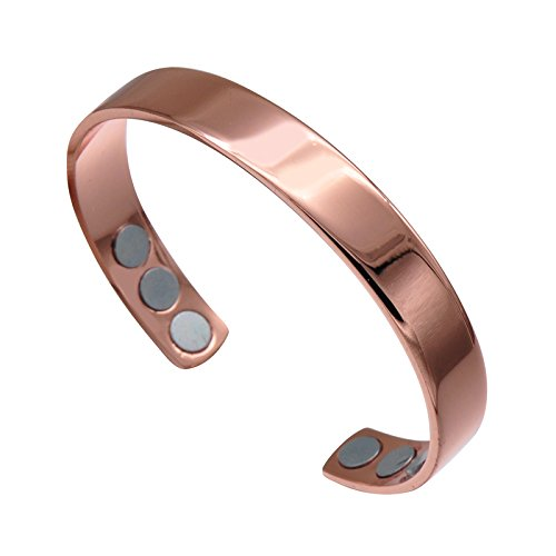 Copper Bracelet for Arthritis Pain Relief with Magnetic function for Men and Women One Adjustable Size by Xing