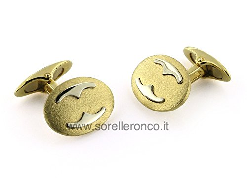 Cufflinks in 18 Kt White and Yellow Gold